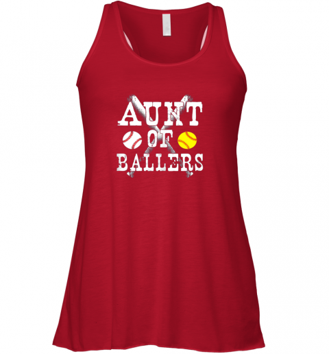 vx2p vintage aunt of ballers shirt funny baseball softball love flowy tank 32 front red