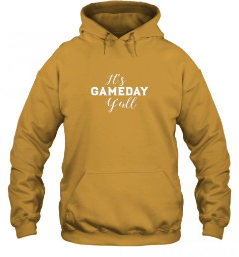 xra6 it39 s game day y39 all football baseball basketball hoodie 23 front gold