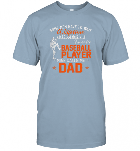 tlmc my favorite baseball player calls me dad funny father39 s day gift jersey t shirt 60 front light blue