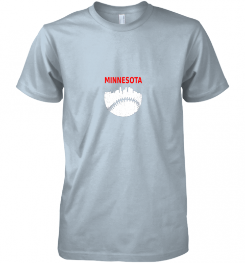 qkt0 retro minnesota baseball minneapolis cityscape vintage shirt premium guys tee 5 front light blue