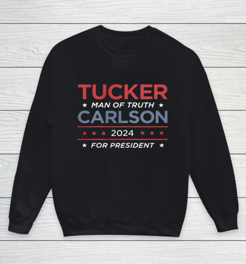 Vote For Tucker Carlson 2024 Presidential Election Campaign Youth Sweatshirt