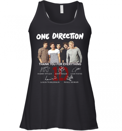 One Direction Band Thank You For Everything Signatures Racerback Tank