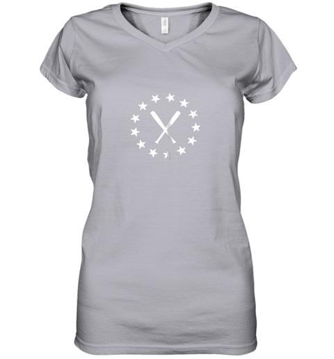 183c baseball with bats shirt baseballin player gear gifts women v neck t shirt 39 front sport grey
