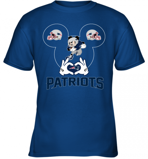 tu6x i love the patriots mickey mouse new england patriots youth t shirt 26 front royal