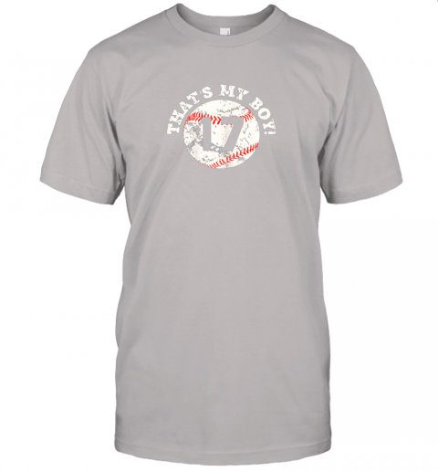 s45y that39 s my boy 17 baseball player mom or dad gift jersey t shirt 60 front ash