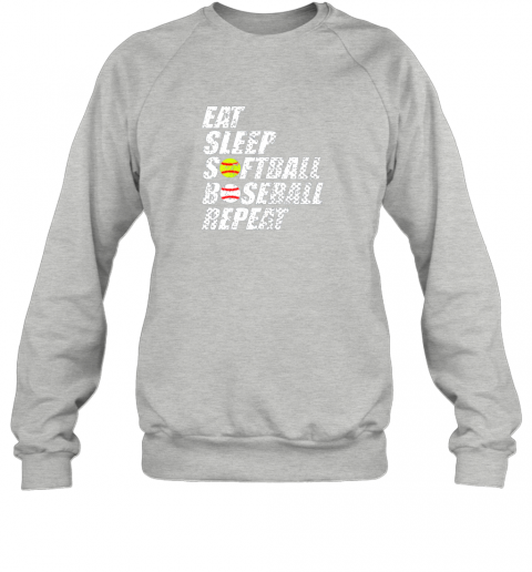 0sow softball baseball repeat shirt cool cute gift ball mom dad sweatshirt 35 front sport grey