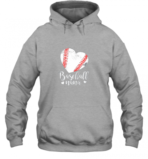 ztmy funny baseball nana shirt gift for men women hoodie 23 front sport grey