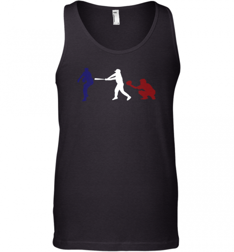 Baseball USA Flag American Tradition Spirit Tank Top