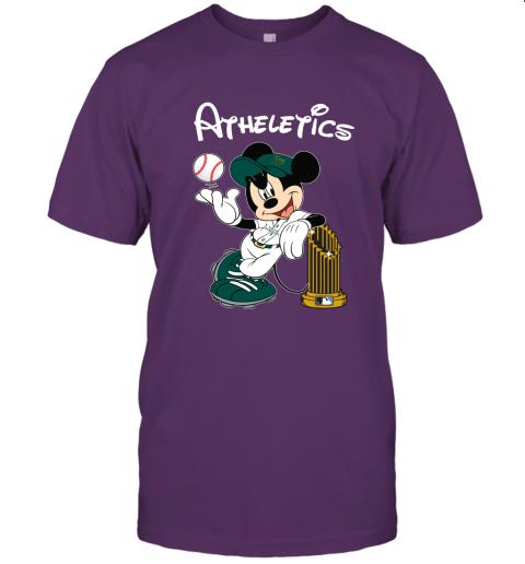 Oakland Athletics Mickey Taking The Trophy MLB 2019 Unisex Jersey Tee