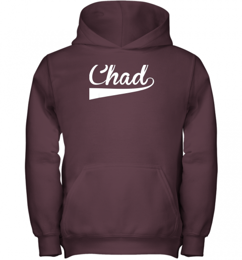 j1we chad country name baseball softball styled youth hoodie 43 front maroon