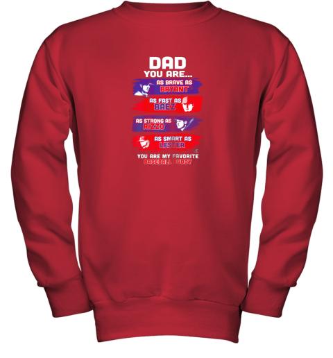 oh5y javier baez baseball buddy shirtapparel youth sweatshirt 47 front red