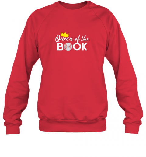 0myg scorekeeper baseball team scorebook queen sweatshirt 35 front red