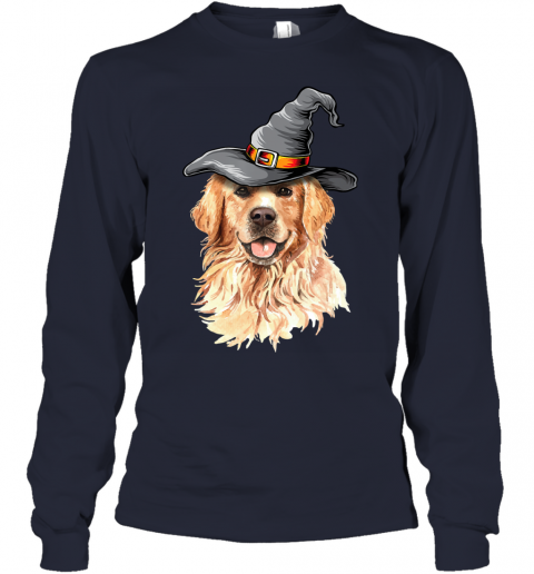 Golden Retriever Halloween Costumes Shirt Gifts Funny Dog Youth Long Sleeve