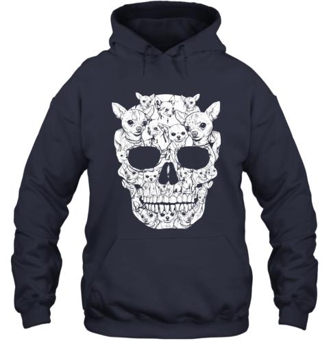 Chihuahua Dog Skull Shirt Halloween Costumes Gift Hoodie