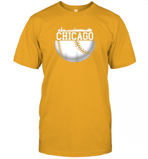 vluh vintage downtown chicago shirt baseball retro illinois state jersey t shirt 60 front gold
