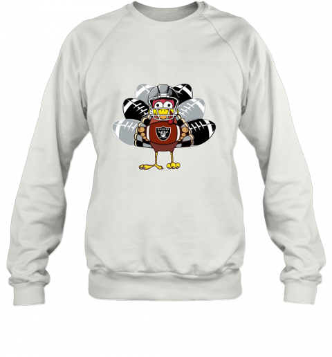 Oakland Raiders  Thanksgiving Turkey Football NFL Sweatshirt