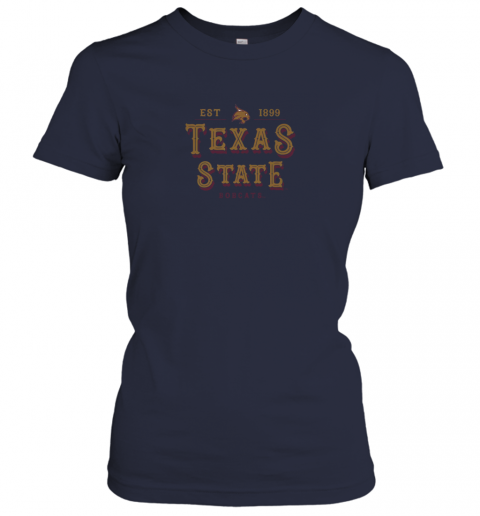 rvtr texas state bobcats womens college ncaa ladies t shirt 20 front navy