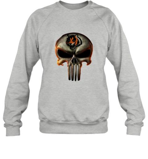 m3ce cincinnati bengals the punisher mashup football sweatshirt 35 front sport grey