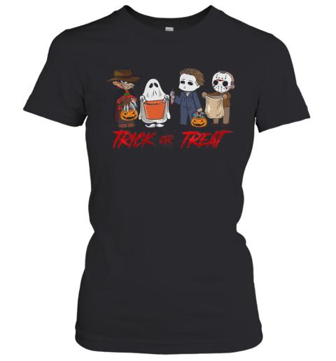 Horror Character Trick Or Treat Halloween Women's T-Shirt