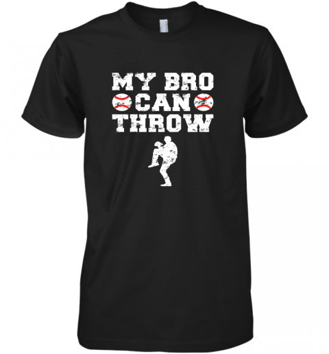 Kids Cute Baseball Brother Sister Funny Shirt Cool Gift Pitcher Premium Men's T-Shirt