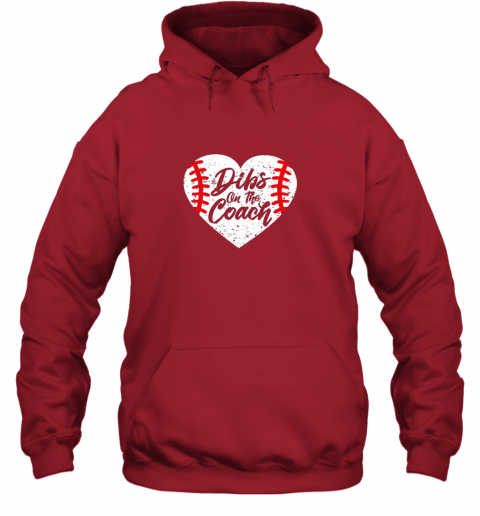 j31n dibs on the coach funny baseball hoodie 23 front red