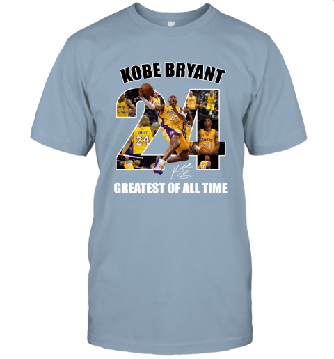 Kobe Bryant Greatest Of All Time Number 24 Signature Unisex Jersey Tee