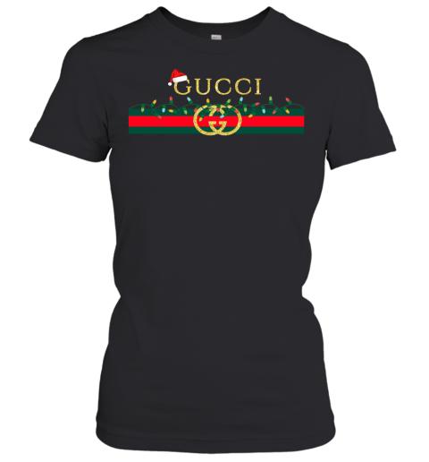 Gucci Logo_Vintage Christmas Light Gift Womens T-Shirt