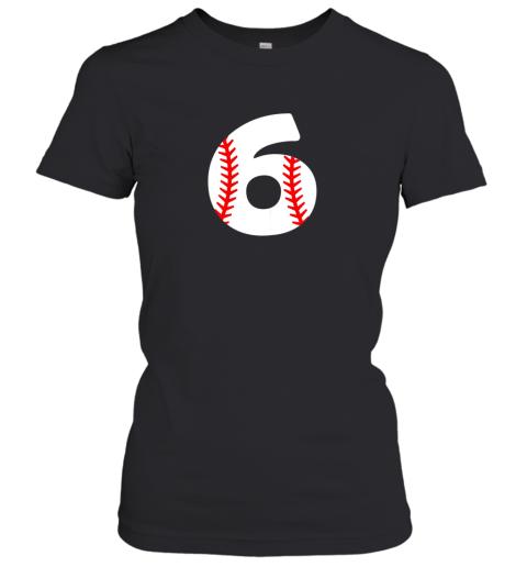 Sixth Birthday 6th BASEBALL Shirt  Number 6 Born in 2013 Women's T-Shirt