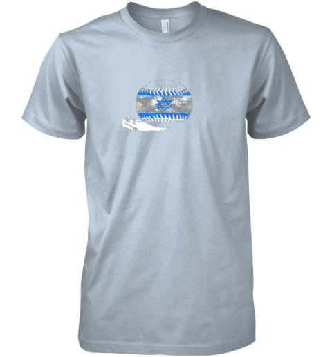 sokx vintage baseball israel flag shirt israelis pride premium guys tee 5 front light blue