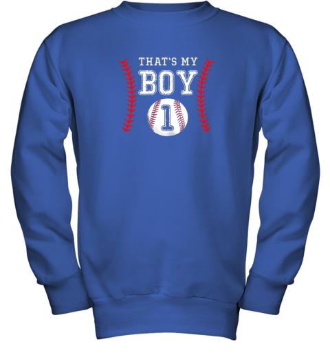 a3xr that39 s my boy baseball 1 year old dad mom youth sweatshirt 47 front royal