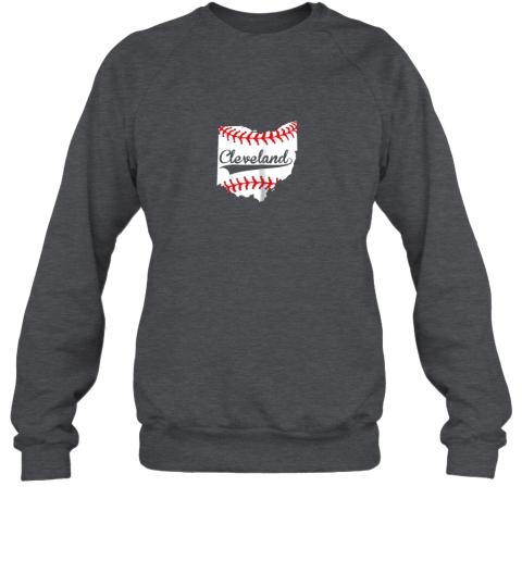 rkll cleveland ohio 216 baseball sweatshirt 35 front dark heather