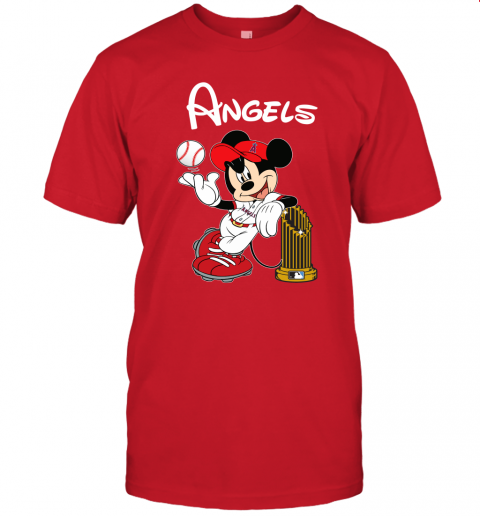 Los Angeles Angels Mickey Taking The Trophy Mlb 2019 Unisex Jersey Tee