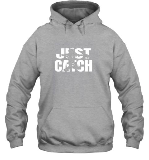 spsr just catch baseball catchers long sleeve shirt baseballisms hoodie 23 front sport grey