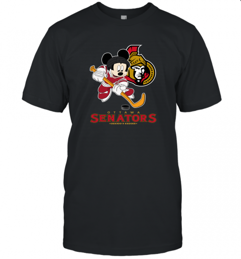 nry4 nhl hockey mickey mouse team ottawa senators jersey t shirt 60 front black