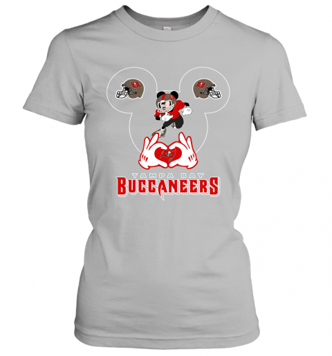lrql i love the buccaneers mickey mouse tampa bay buccaneers s ladies t shirt 20 front sport grey