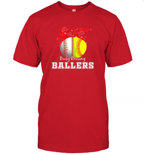 cmmt busy raising ballers softball baseball shirt baseball mom jersey t shirt 60 front red