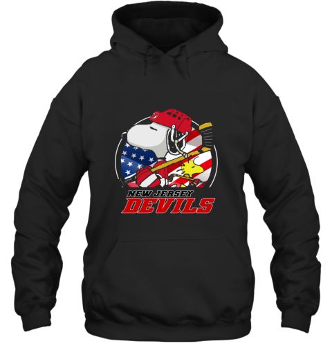 New Jersey Devils  Snoopy And Woodstock NHL Hoodie