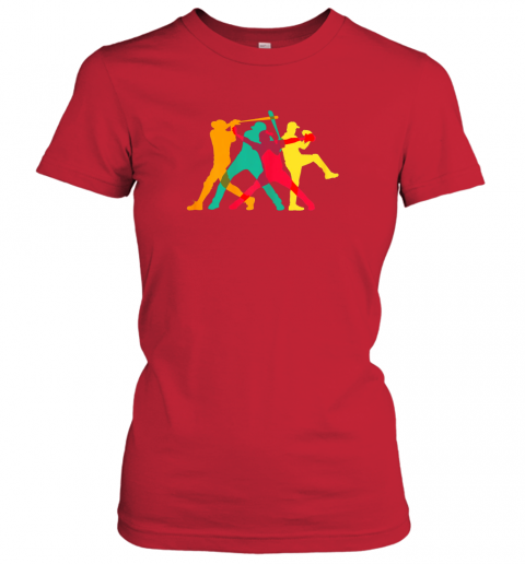 nhzf vintage baseball shirt gifts ladies t shirt 20 front red
