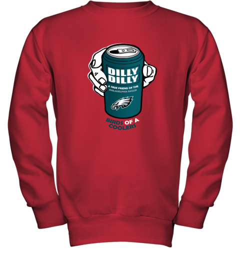Bud Light Dilly Dilly! Philadelphia Eagles Birds Of A Cooler Youth Sweatshirt