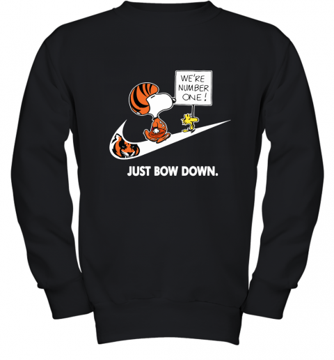 Cincinnati Bengals Are Number One – Just Bow Down Snoopy Youth Sweatshirt