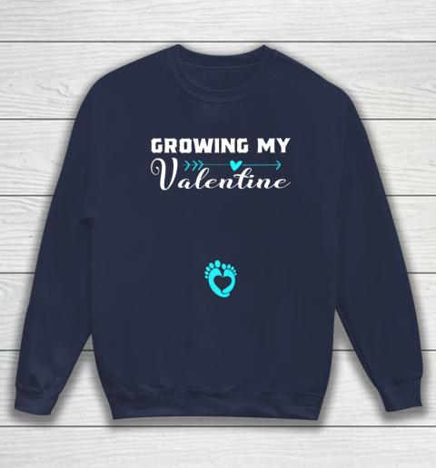 Cute Growing my Valentine Gift for Women pregnancy Sweatshirt 2