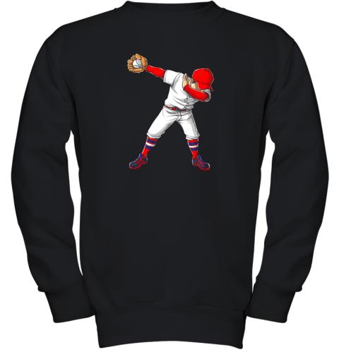 Dabbing Baseball T Shirt Funny Dab Dance Shirts Boys Girls Youth Sweatshirt
