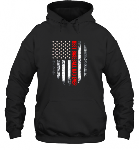 2skq vintage usa best baseball dad ever american flag daddy gift hoodie 23 front black