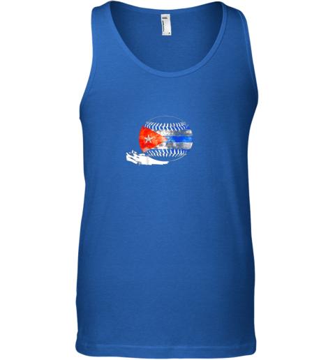 55mb vintage baseball cuba flag shirt cuban pride unisex tank 17 front royal