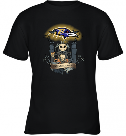 Baltimore Ravens Jack Skellington This Is Halloween NFL Youth T-Shirt