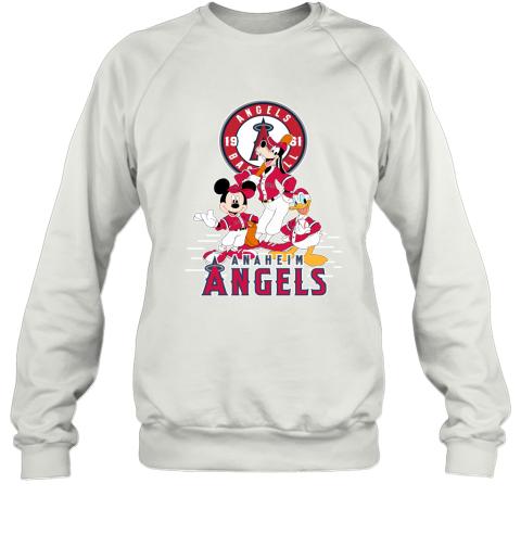 Los Angeles Angels Mickey Donald And Goofy Baseball Sweatshirt