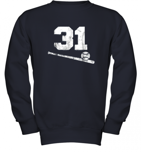 84sk vintage baseball jersey number 31 shirt player number youth sweatshirt 47 front navy