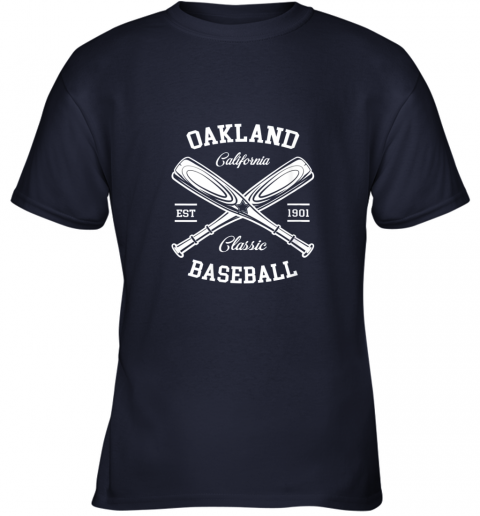 oujz oakland baseball classic vintage california retro fans gift youth t shirt 26 front navy