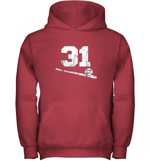 5nmw vintage baseball jersey number 31 shirt player number youth hoodie 43 front red