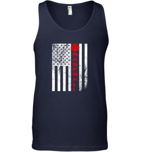 sytt usa red whitevintage american flag baseball gift unisex tank 17 front navy